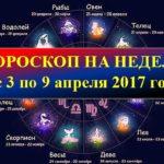 Гороскоп на неделю с 3 по 9 апреля 2017 года