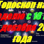 Гороскоп на неделю с 18 по 24 декабря 2017 года